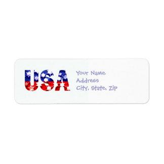 Etiquetas de devolución de la dirección de los E.E Etiqueta De Remite