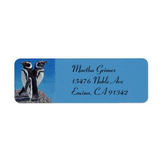 Etiquetas de dirección adorables del pingüino