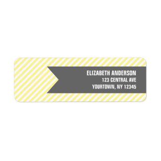 Etiquetas de dirección amarillas del modelo de las