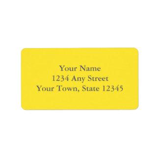 Etiquetas de dirección amarillas y gris impresas d