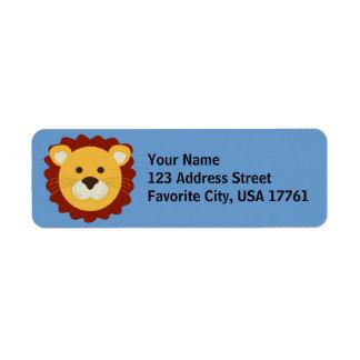 Etiquetas de dirección amistosas del león