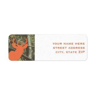 Etiquetas de dirección anaranjadas del camuflaje