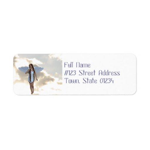 Etiquetas de dirección angelicales del bailarín de