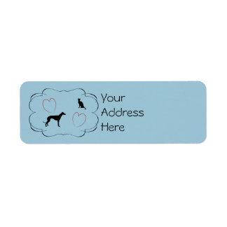 Etiquetas de dirección animales del rescate