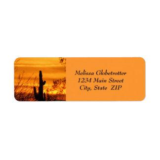 Etiquetas de dirección--Arizona Sunset-1 Etiqueta De Remite