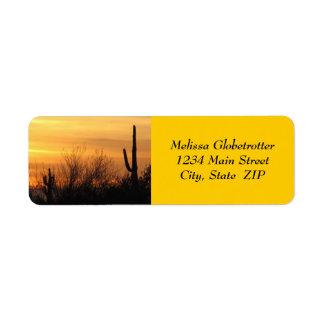 Etiquetas de dirección--Arizona Sunset-3 Etiquetas De Remite