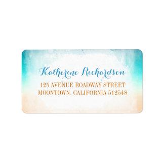 etiquetas de dirección azules del boda de la vaini