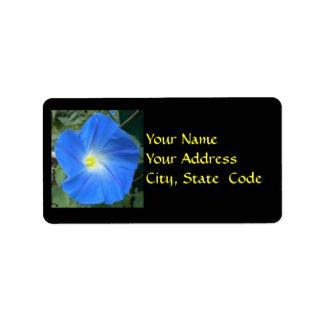 Etiquetas de dirección azules divinas de la