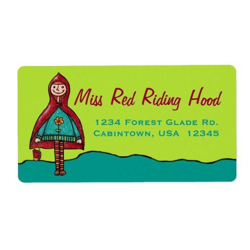 Etiquetas de dirección, Caperucita Rojo