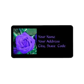 Etiquetas de dirección color de rosa de color