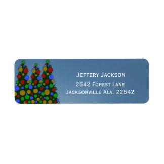 Etiquetas de dirección coloridas del árbol de