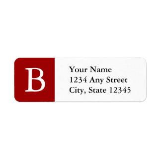 Etiquetas de dirección cones monograma de encargo