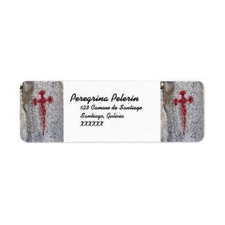 Etiquetas de dirección cruzadas de San Jaime