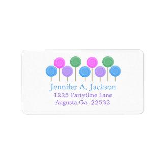 Etiquetas de dirección de Avery del caramelo