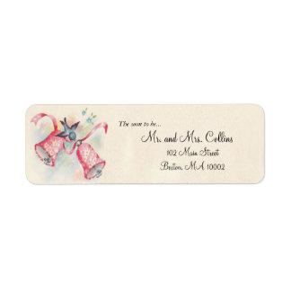 Etiquetas de dirección de Belces de boda