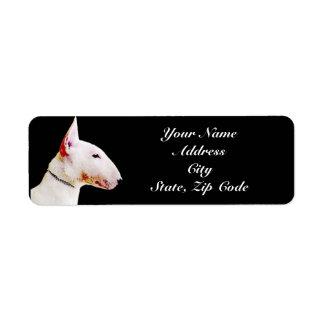 Etiquetas de dirección de bull terrier