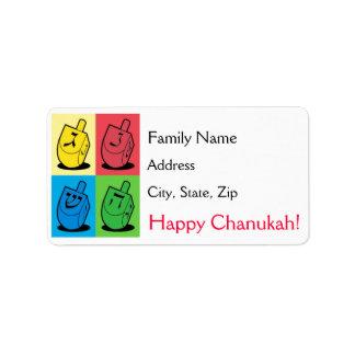 Etiquetas de dirección de Chanukah