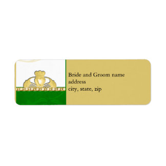 Etiquetas de dirección de Claddaugh del irlandés