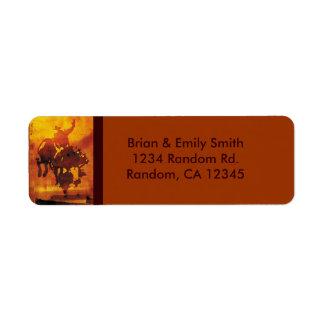 Etiquetas de dirección de cobre artísticas del jin