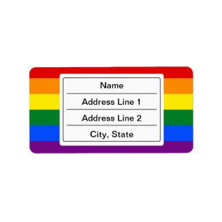 Etiquetas de dirección de encargo de la bandera de