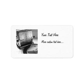 Etiquetas de dirección de encargo de la tostadora
