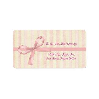 Etiquetas de dirección de encargo del boda