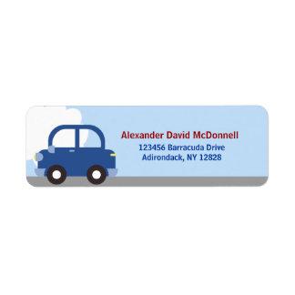 Etiquetas de dirección de encargo del coche del tr