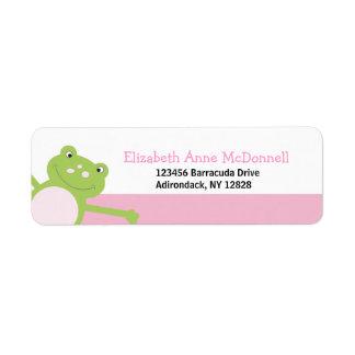 Etiquetas de dirección de encargo del Froggy de la