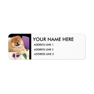 Etiquetas de dirección de encargo del heARTdog de