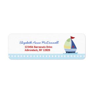 Etiquetas de dirección de encargo del pequeño vele