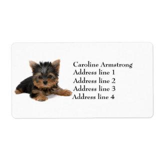 Etiquetas de dirección de encargo del perrito del