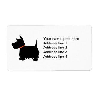 Etiquetas de dirección de encargo del perro de Ter