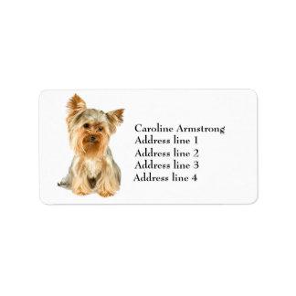 Etiquetas de dirección de encargo del perro de Yor