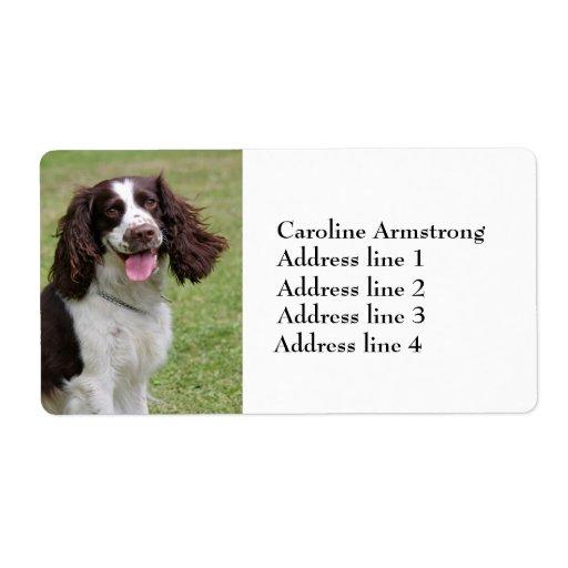 Etiquetas de dirección de encargo del perro del pe
