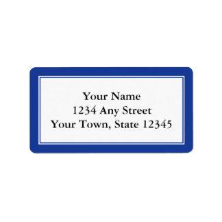 Etiquetas de dirección de encargo del sobre de los