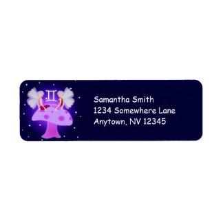 Etiquetas de dirección de encargo del zodiaco lind