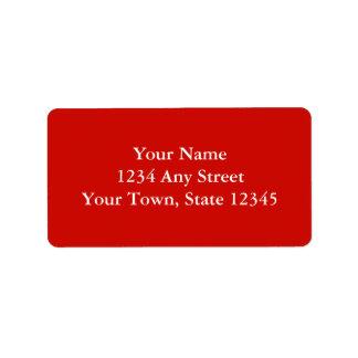 Etiquetas de dirección de encargo - rojo brillante