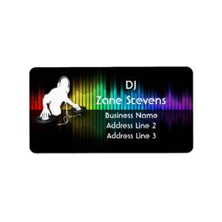 Etiquetas de dirección de giro del vinilo de DJ
