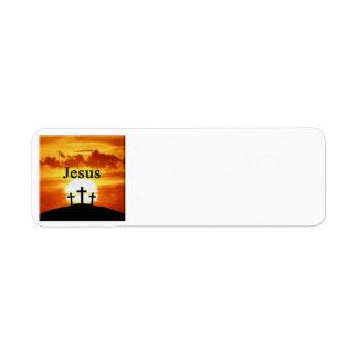 Etiquetas de dirección de Jesús de la salida del s