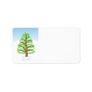 Etiquetas de dirección de Joyeux Noel