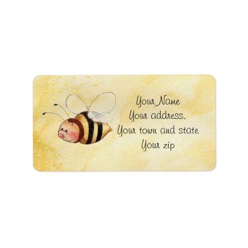 Etiquetas de dirección de la abeja