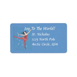 Etiquetas de dirección de la bailarina del navidad