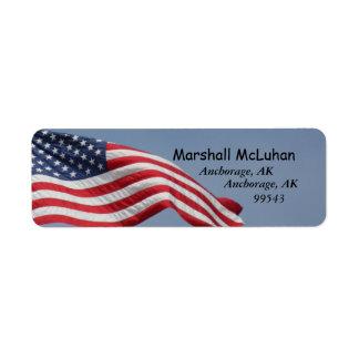 Etiquetas de dirección de la bandera americana