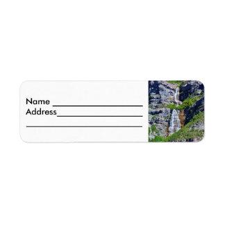 Etiquetas de dirección de la cascada #1a de Utah