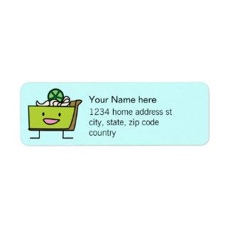 Etiquetas de dirección de la empanada de la lima a