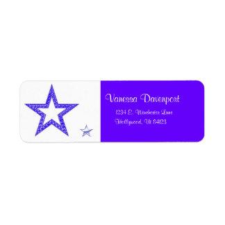 Etiquetas de dirección de la estrella azul