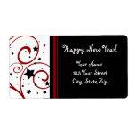 Etiquetas de dirección de la Feliz Año Nuevo