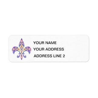 Etiquetas de dirección de la flor de lis