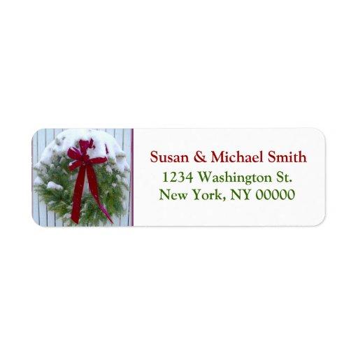 Etiquetas de dirección de la guirnalda del navidad