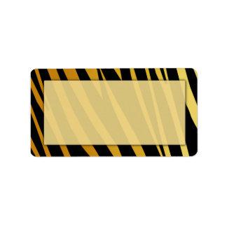 Etiquetas de dirección de la impresión del tigre